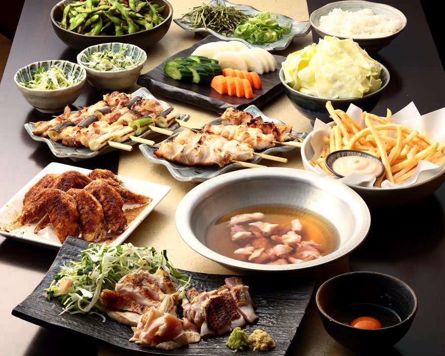 とりいちず 目白駅前店の鶏料理を満喫できる〈食べ放題×飲み放題コース〉